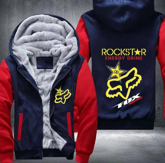 Rockstar Energy Fleece Jackets (U.S. inches)