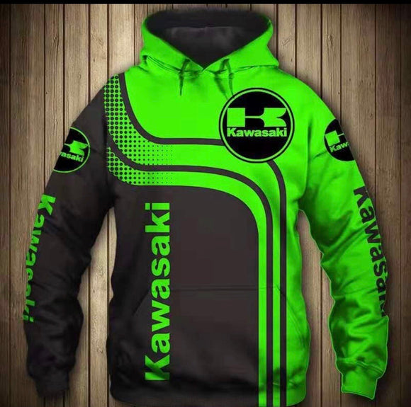 Kawasaki Hooded Motorcycle Jacket