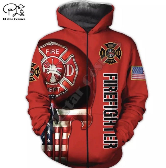 Fireman Tribute Light Hoodie