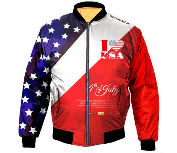 USA 4th of July Bomber Jacket