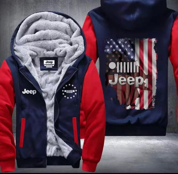 Jeep Fleece Jackets (U.S. inches)
