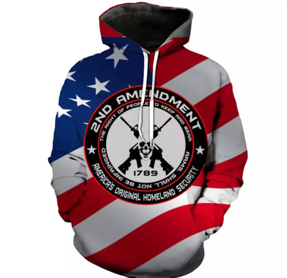 Second Amendment Light Hoodie