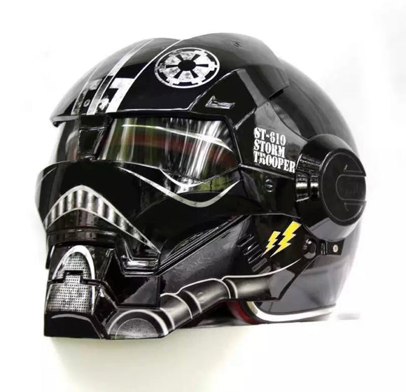 Storm Trooper motorcycle helmet