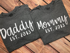 bb2d206f57849 Daddy & Mommy Established Couples Shirts Matching Couples Shirts Pregnancy  Announcement Shirt Couples Est Shirt Mommy