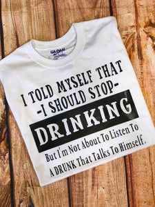 a5a8c2d011 ... Clean and Sober Drug/Alcohol Free Shirt Sobriety Shirt Sober Sobriety  Soberlicious. $20.00 · Funny Drinking Shirt Don't Listen To A Drunk Shirt  Talks To ...