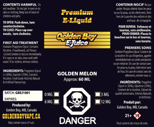 Golden Boy E-Juice- Golden Melon