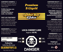 Golden Boy E-Juice - Loca Cherry Lime
