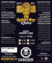 Golden Boy E-Juice - Loca Cherry Lime - Salt Nic