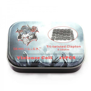 Demon Killer Prebuilt Wire Tri-twisted Clapton 10pcs - Golden Boy Vape Shop