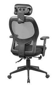 eurospotrs Ergonomic Mesh Office Chair Adjustable Armrests Computer Desk Chair with Headrest,8018BK