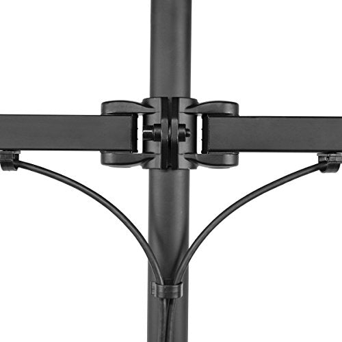 Seneca AV Four Arm Full Motion Desktop Monitor Mount for 13-Inch 27-Inch Screens (SD22), Black