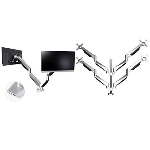 Loctek Combined D7Q + D7D Hex LCD Computer Arm Six Monitor Mount Stand for Securities Company Stockjobber up to 6 screens 27 inch