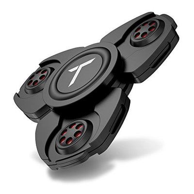 Trianium Fidget Spinner Pro Metal Series [Black] Phone Stress Reducer Figit toy for Kid Adult [Easy Flick + Spin] Prime Ball Bearing Finger Spinner Hands Focus Toys Perfect For Anxiety,Autism,Boredom