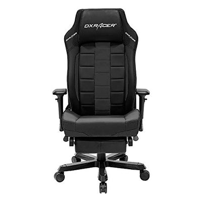DXRacer Classic Series DOH/CS120/N/FT Big and Tall Chair Racing Bucket Seat Office Chair with Leg Rest Comfortable Chair Ergonomic Computer Chair Desk chair (Black)