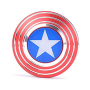 Fidget Hand Spinner, Captain America's Shield Designed Anti-Anxiety Stress Relief Toy Fidget Spinner EDC ADD ADHD Focus Toy for Kids and Adults