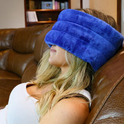 Huggaroo Hot/Cold Headache Wrap: Moist Heat and Subtle Herbal Aromatherapy or Cool Relief for Migraine, Tension, or Sinus Headaches