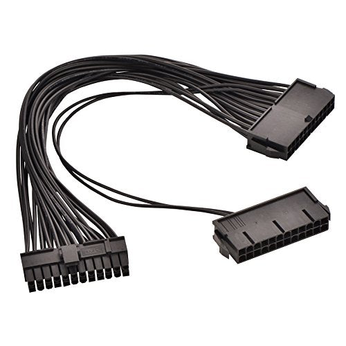 24 Pin Main Second Dual PSU ATX Power Supply Cable - Altcoin Ninjas
