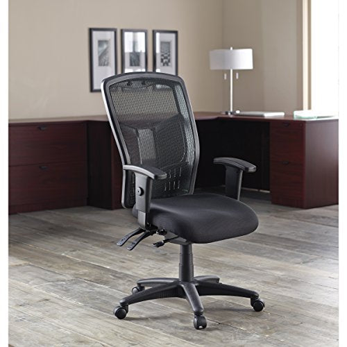 "Lorell Executive High-Back Chair, Mesh Fabric, 28-1/2""x28-1/2""x45, BK"
