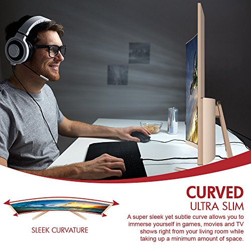 VIOTEK GN32Q - 32 Inch WQHD 144 Hz Curved Computer Monitor - 2560x1440p, FPS/RTS Optimized w/Crosshairs Functionality