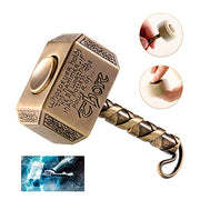 MAYBO SPORTS Wiitin Thor's Battle Hammer Fidget Hand Spinner Made by Metal, the Mighty Mjolnir Keychain Toy - Antique Brass