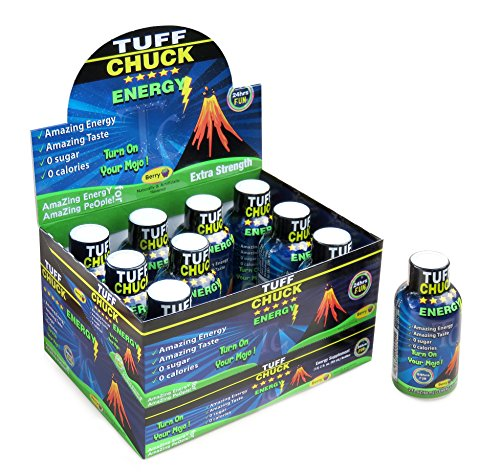 TUFF CHUCK Energy shot Extra Strength caffeine vitamins B12 Fantastic Energy drink shot