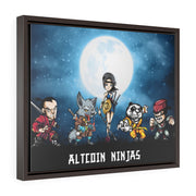 """Altcoin Ninjas"" Horizontal Framed Premium Gallery Wrap Canvas"