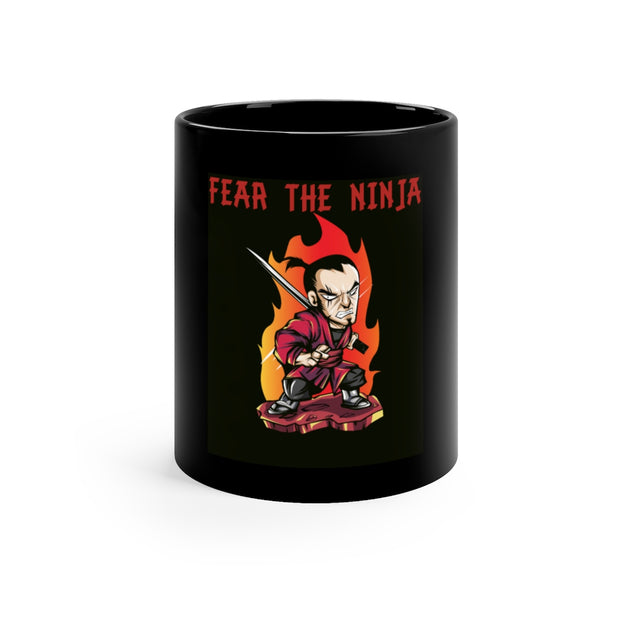 "Executioner ""Fear the Ninja"" Black mug 11oz"
