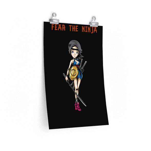 "Hope ""Fear the Ninja"" Matte vertical posters"