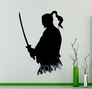 "Wall Sticker ""Samurai With Katana"" - Altcoin Ninjas"