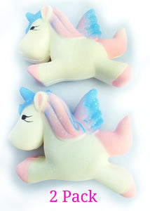 WHITE SQUISHY UNICORN 2 PACK BY LUCKY PINEAPPLE