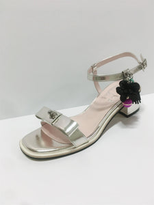 Silver Sandals with Candy Tassels