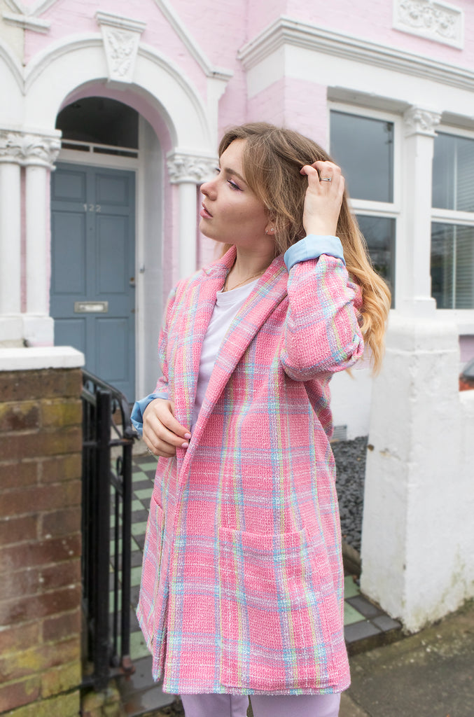 Paige Joanna Heather Blazer in Pink Check