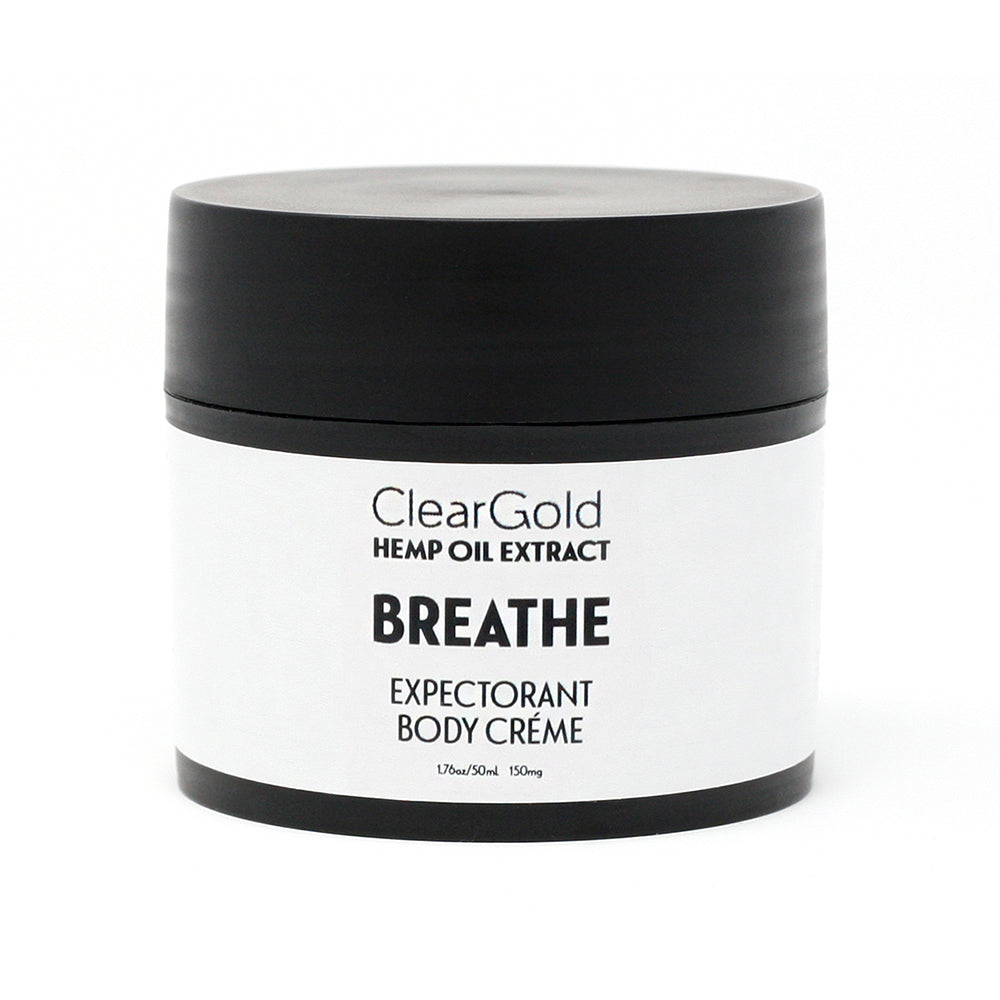 clear gold breathe body creme hemp oil and herbs