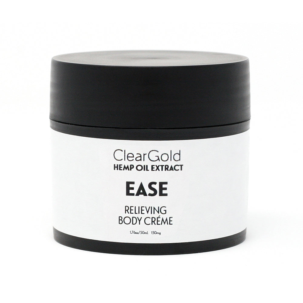 clear gold breathe body creme hemp oil herbal blend