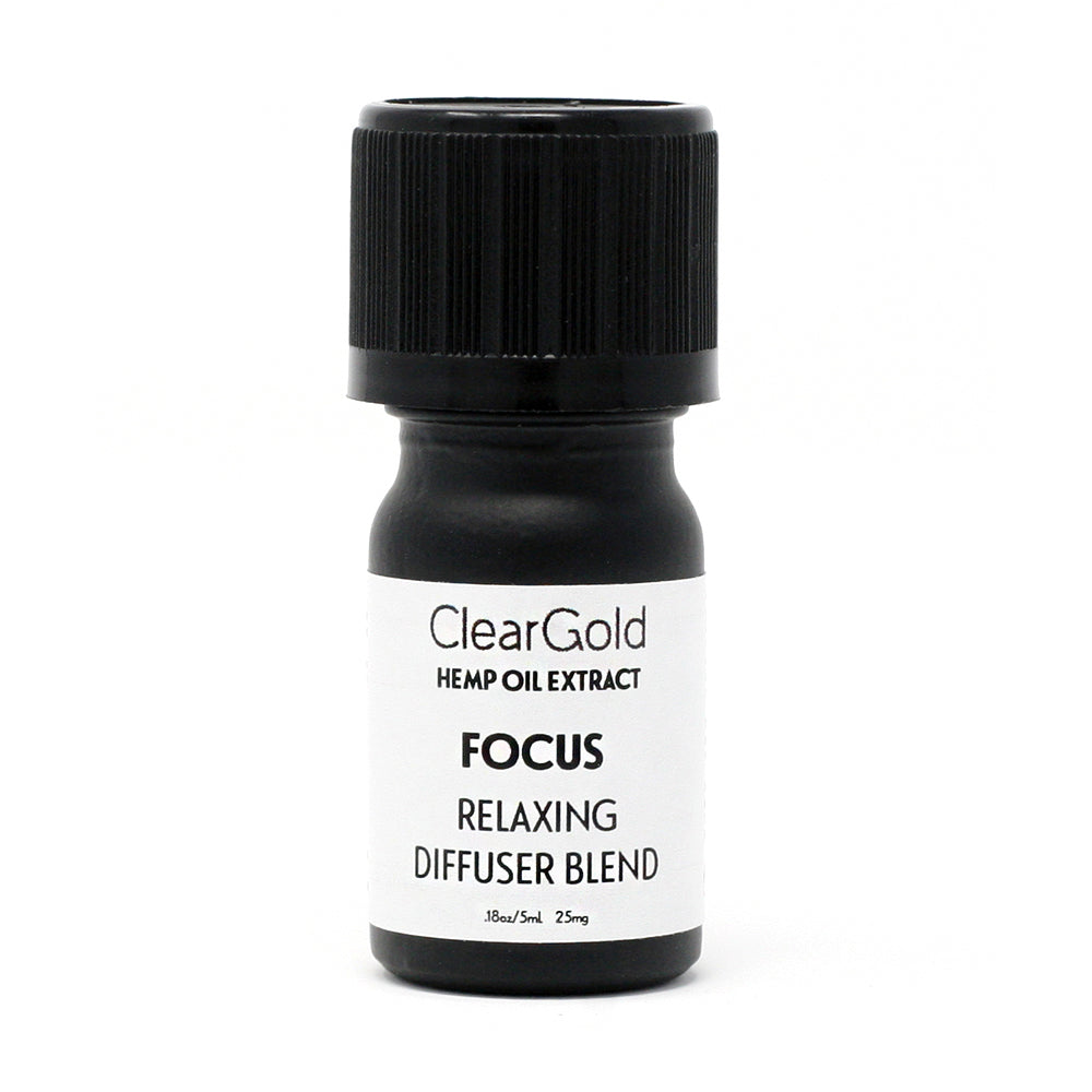 clear gold focus diffuser hemp oil beauty products