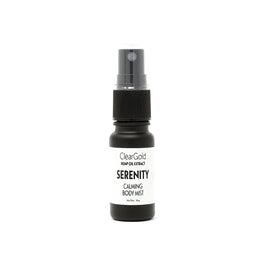 clear gold serenity cbd body mist hemp oils