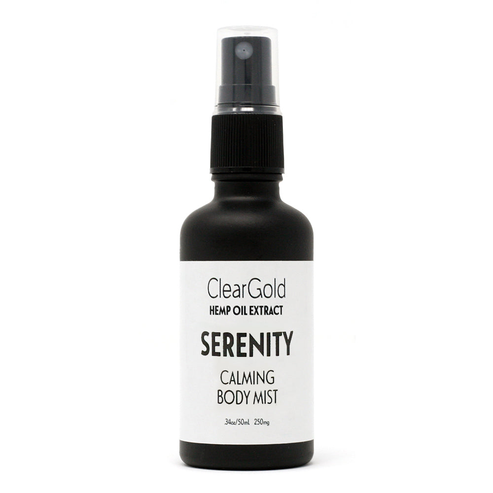 clear gold serenity cbd body mist hemp oil extract
