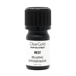 clear gold rest diffuser cannabis oil beauty products