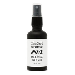 clear gold awake body mist hemp oil extract