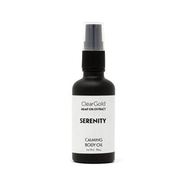 clear gold serentiy body oil hemp aromatherapy