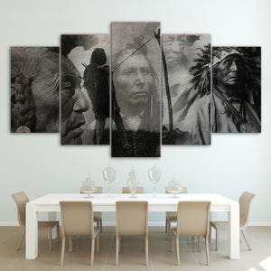 Indian Black & White Canvas