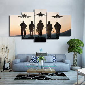 Sunset American Soldier Canvas