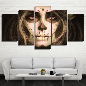 Day of the Dead Woman Canvas