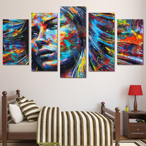 Hair Woman Abstract Canvas