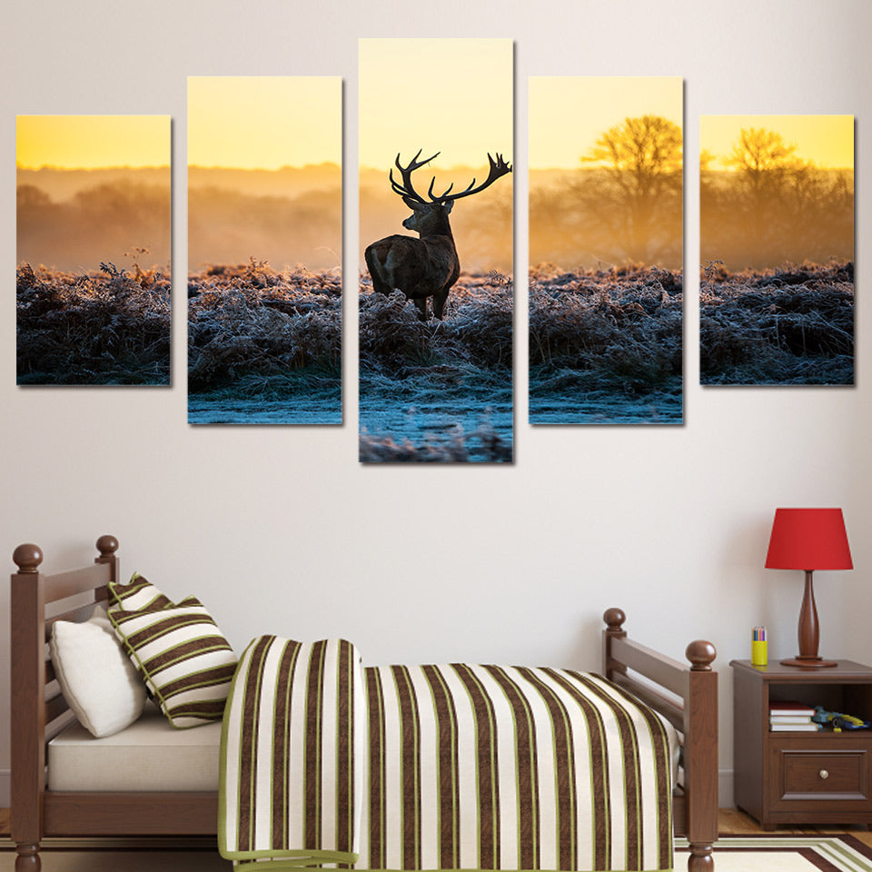 Sunset Deer Canvas