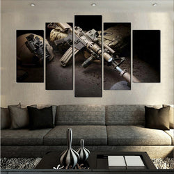5 Plane US Army Guns Paintings Wall Art Home Decoration Unframed Canvas Oil Painting For Living Room