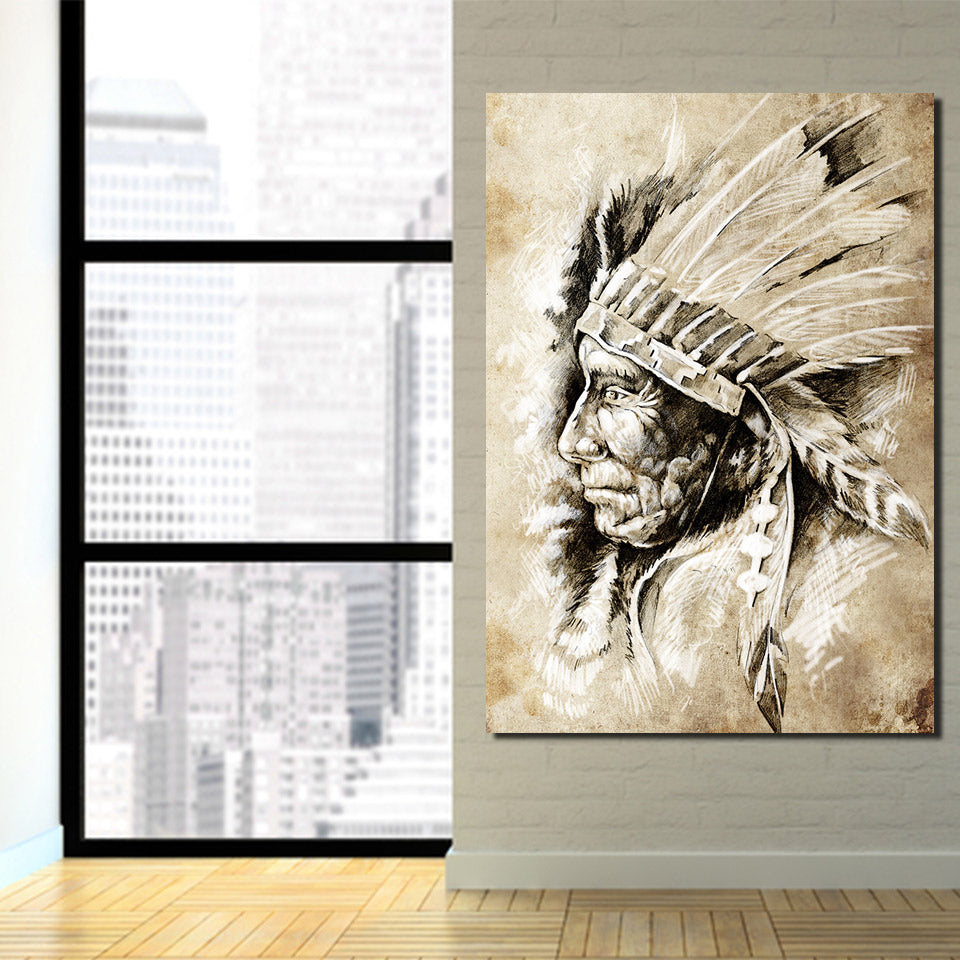 American Indians Ethnic Canvas