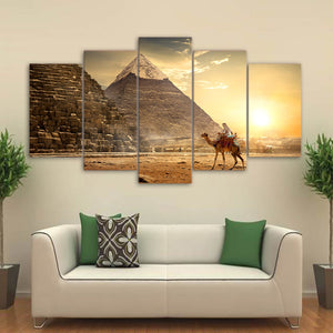 Ancient Egypt Pyramid Sunset Canvas