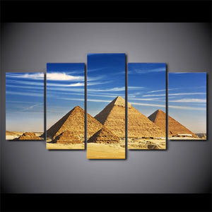 Egypt Pyramid Blue Sky Canvas