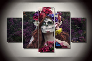 Day of the Dead Face Canvas